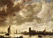 Jan van Goyen View of Merwede before Dordrecht oil painting picture wholesale